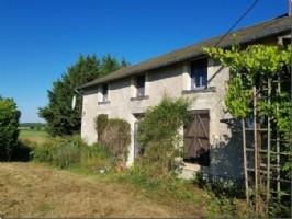 Cottage en pierre rénové, 2 ch, 97 m², dans un endroit isolé et tranquille, 79420 Vautebis