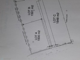 Terrain constructible de 1501 m2 - LOT B