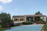 Maison de plain-pied 3 chambres. SH 102m² .piscine. Belles vues. 11300 Malvies