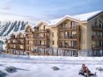 Appartements neufs de 2 chambres + coin montagne avec garage et casier à skis face aux pistes