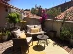 Belle maison de bon goût à Pezenas avec une magnifique terrasse sur le toit