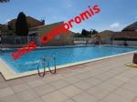 Terrain avec grand mobil home, sur camping privé avec piscine, Argelès
